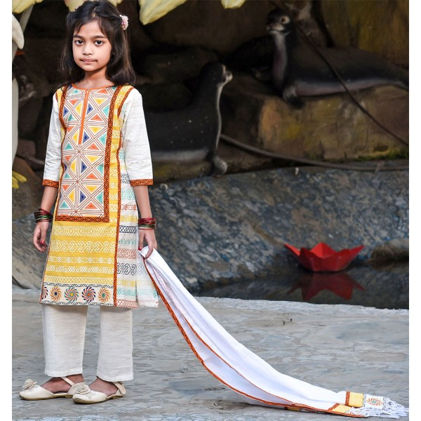 Girl's Salowar Kamiz Orna-24593