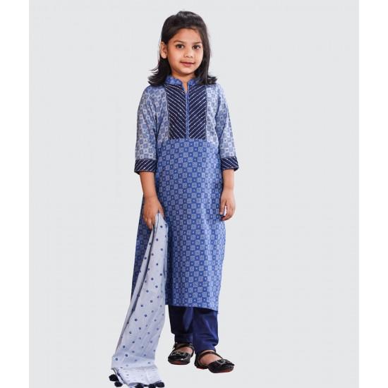 Girls Salwar kameez Orna-25639